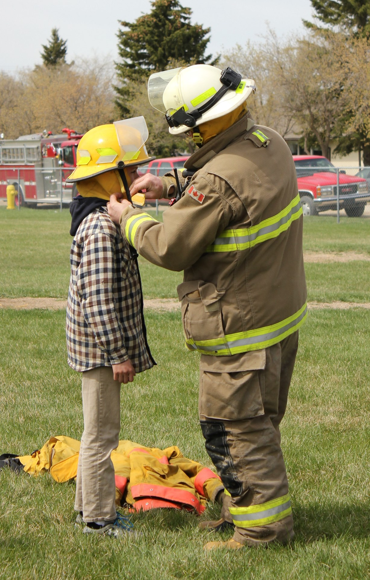 Student with fire fighter- credit Jillian Bader.JPG