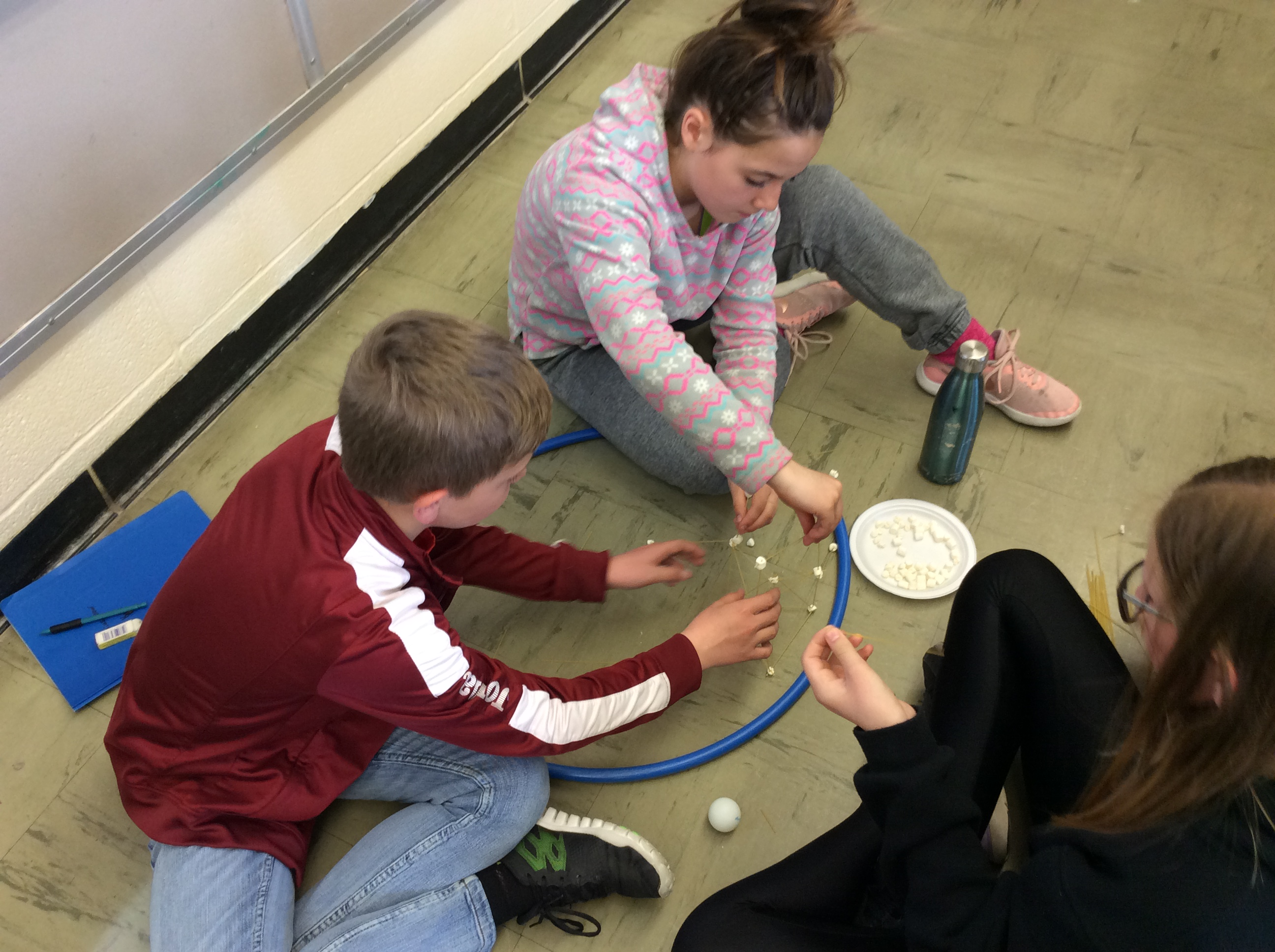 Grade 6C Students Working on Design Challenge