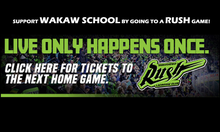 Sask Rush support Wakaw School