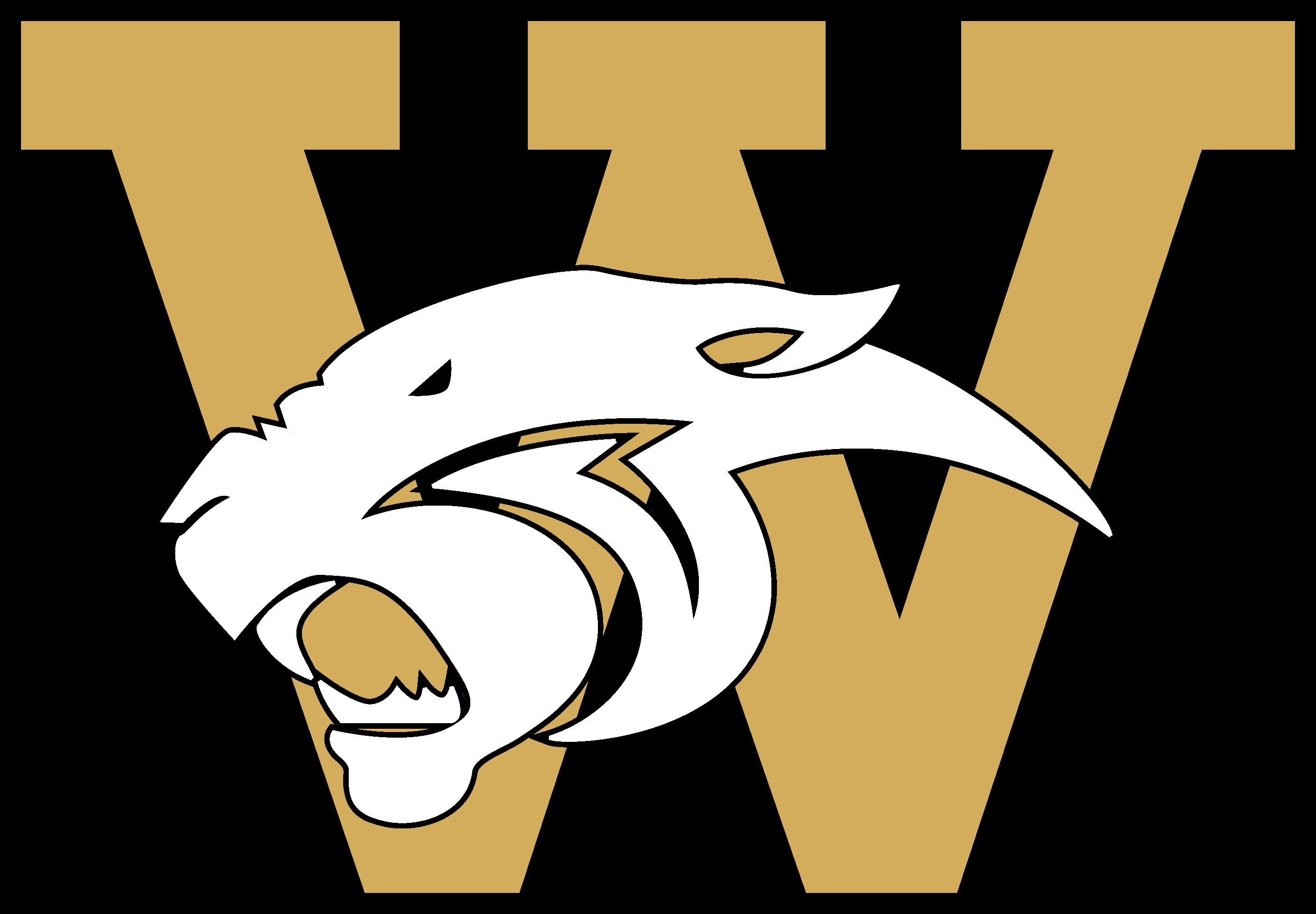 Wildcat Logo Gold Black